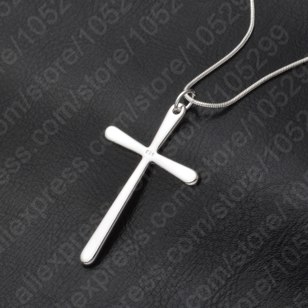 JEXXI Women/Men Jewelry Wholesale Trendy 925 Sterling Silver Cross Pendant Necklace Punk Style Free Shipping(China)