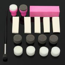 Set 17pcs Nail Art Sponge Pen Stamp Stamper Polish Buffer Sanding Block Buffing Manicure Tools DIY Kit(China)