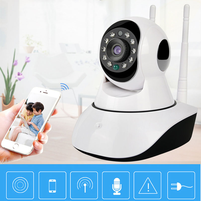 TF SD Card WIFI Alarm CCTV IP Camera Wireless Home Security Surveillance Camera Motion Detection Home Security FC<br>