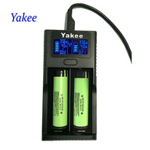 Yakee Smart LCD USB Battery Charger for Li-ion 26650 18650 18500 18350 17670 16340 14500 10440 lithium battery 3.7V PK UM20 D2