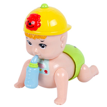 Lovely Baby Boy Doll Will Call Mom and Dad Children Electric Crawl Crawling Toys Early Educational Toy for Kids