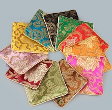 Jolly 20pcs/lot Retro Small Gift Brocade Drawstring Bag Jewelry Wedding Gift Jewelry Packaging Bags with ziplock