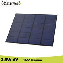 SUNWALK 3.5W 6V PET+EVA Laminated Solar Cell Panel DIY Polycrystalline Silicon Solar Cell for Solar Project and Education Test(China)
