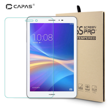 CAPAS Tempered Glass for Huawei MediaPad T1 8.0 Screen Protector Protective Film for Honor Tablet T1 Protective Premium Guard(China)
