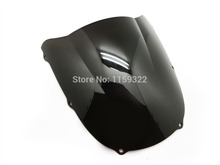 Smoke Double Bubble Abs Windscreen Windshield For 1998-1999 Kawasaki Ninja ZX6R