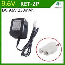 AC 220V DC 9.6V 250 mAh Charger For NiCd & NiMH battery pack charger For toy RC car 9.6v 250mA (KET 2P Plug) Hollow socket plug(China)