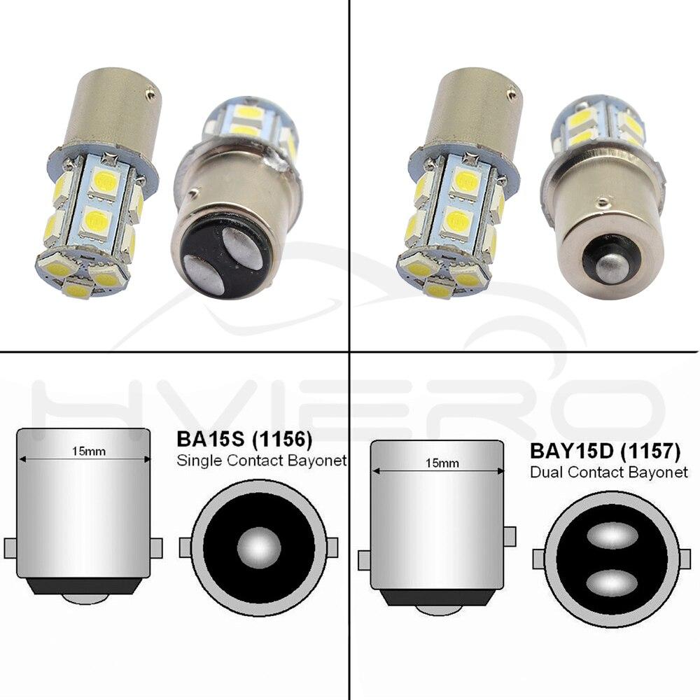 1156 BA15S 1157 BAY15D P21W BA15D 13Led 5050 Car Led Turn Parking Signal Lights Brake Tail Lamps Auto Rear Reverse Bulbs DC 12V (4)