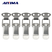 5pcs Stainless Steel Spring Loaded Latch Catch Toggle Mild Steel Hasp For Sliding Door Simple Window(China)