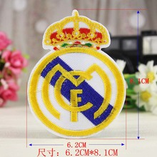 Novelty Embroidery Clothes  For Clothing Iron On Patches Punk Motif Real Madrid Applique DIY Accessory Patches