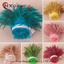 beautiful!Hot sale! Natural Pheasant Chicken 100pcs 13 colors Beautiful Rooster feather 12.5-20cm/5-8Inch DIY Craft Decoration