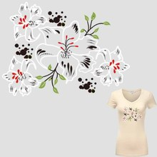 Flower Patches For Clothing 23*17cm Heat Transfer Ironing Stickers DIY Accessory Decoration Print On T-shirt Dresses