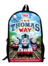 13inch little trains backpack 1 children primary School train Kids Cartoon train bag kindergarten men women custom made