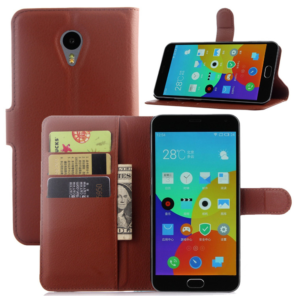 Meizu M2 Note Case 5.5 Inch Flip Wallet Leather Cover Meizu M2 NOTE Meilan Note 2 Stand&Card Holder Phone Cases Bag