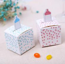 100pcs  nursing feeding bottle  baby shower party Wedding favor paper box favour gift box birthday candy box sweet love box