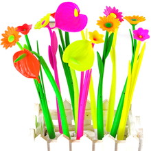 6PCS Bloom Flora Flowers Pen Design Ballpoint Pens Stationery Gifts Kawaii Ballpen School Office Material Supplies Accessories(China)