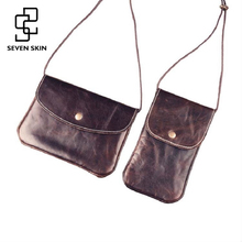 SEVEN SKIN Women Genuine Leather Bags Female Small Shoulder Bags Vintage Envelope Messenger Bag Mini Women Clutch Crossbody Bag(China)
