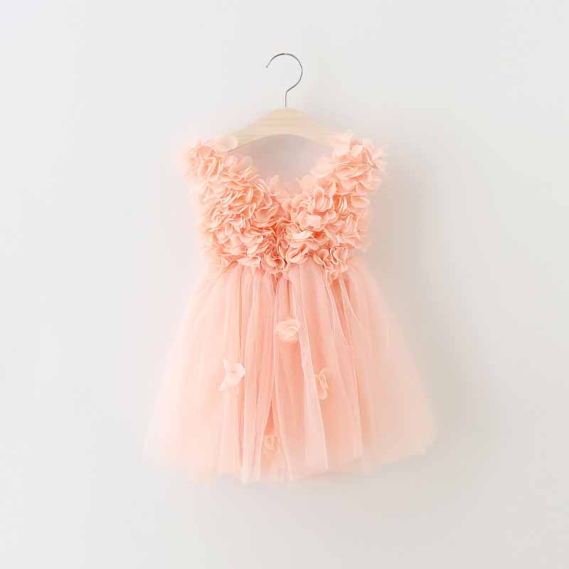 2-6y toddler girls peach petal Princess Dress kids Party Role-play Costume children Summer V-neck dress Brand kids Clothes<br><br>Aliexpress