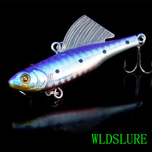 WLDSLURE 2pcs 14g 65mm Winter Ice Sea Sinking Hard Fishing Lures VIB Bait Diving Swivel Jig Wobbler Crankbaits Bass Wing Lure