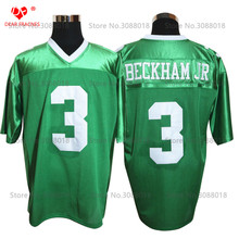 Cheap Shirt for Mens American Football Jerseys Odell Beckham Jr. 3 Isidore Newman HS Throwback Jerseys Retro Green Stitched(China)