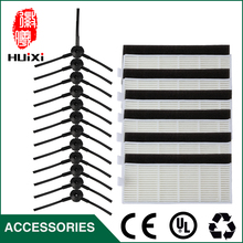 High Quality 6 pairs Side Brushes + 6 sets HEPA Filter and Filter Cotton for CEN546 CEN550 CEN663 Robot Vacuum Cleaner Parts