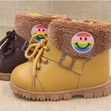 kids boots / winter 2016 new children's winter non-slip rubber bottom Martin boots, boys and girls winter boots, baby warm boots