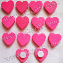 1000PCS/LOT.Dark pink heart sticker,Home decoration,Wood crafts.Kids toys Wedding decoration.Easter decoration.1.8cm.Wholesale