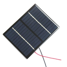 BUHESHUI Polycrystalline Small  Mini Solar Panel Module 1.5W 12V With Black/Red Wire Solar Cells w/ Cable Education Kits Study