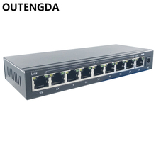 8+1 ports 10/100M POE Switch 12~15~24V poe network switch with 8 poe ports 1 uplink for Wireless AP, IP cameras etc(China)