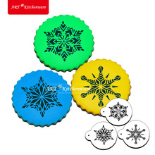 Christmas Small Crystal Snowflakes Cookie Stencil Cake Top Stencil Cake Stencil Template Cake Decorating Kit Pastry Tools ST-539