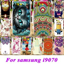 Luxury Painted Cases For Samsung Galaxy S Advance i9070 GT-I9070 i9070 9070 Covers Protective Bag 18 Style Plastic Durable Shell