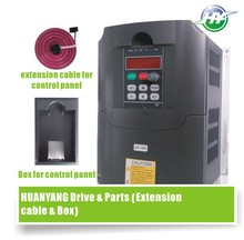 HUANYANG HY Series VFD Drive 5.5KW 220V 20A spindle inverter frequency converter &Optional parts (extension cable + box) SALES