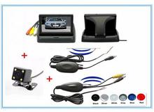 4IN1 Wireless Car Video Parking sensor Backup Assistance system,Vehicle Monitors+Wireless kit+Rearview Camera+parking Sensor