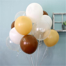Hot Sale 12inch 2.8G 50pcs/lot Latex Balloons Helium Thick brown white Skin Balloon Wedding Birthday Decorations Toy Ball gifts