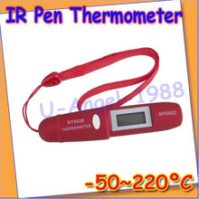 Non-Contact LCD IR Infrared Pocket Digital Pen Thermometer DT8220+Free shipping