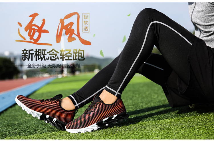 17New Hot Light Running Shoes For Men Breathable Outdoor Sport Shoes Summer Cushioning Male Shockproof Sole Athletic Sneakers 16