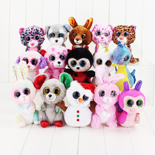 Ty Beanie Boos Plush Toys Beanie Babies Big Eyes Elephant Owl Avril Rabbit Reg Safari Giraffe Pink Twigs Sly Unicorn Animal Doll