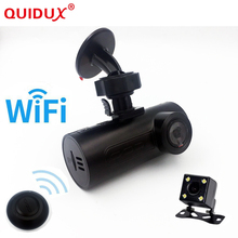 QUIDUX 2017 Mini Car OBD Car DVR Car Camera Dash Cam Wireless wifi GPS ADAS Wireless Wifi Hd Night-vision Lens Car Black Box(China)
