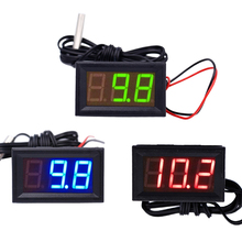 NEW 12V Digital Thermometer Temperature Monitoring tester With Temp Probe LED meter -50~100C