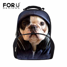 Cool 3D Zoo Animals School Bags for Girls Boys Cute Bulldog Cat Schoolbag Child Bookbag Kids Backpack for Teenagers