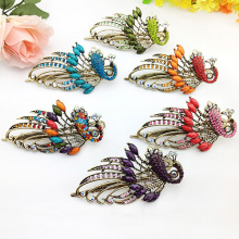 New and hot!  Women's Retro Style Peacock Hairpin Rhinestone Hair Clip Alloy Hair Accessary
