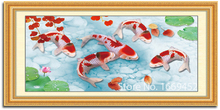 diy diamond painting China style Red Koi diamond embroidery icon cross-stitch needlework picture of rhinestones 5d cloth drill(China)