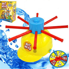 1PC Parents Kids Wet Head Challenge Fun Water Roulette Family Party Prank Games Toys Funny Gadgets For kid gift