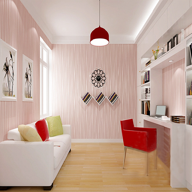 Modern fashion Wallpapers Self-adhesive Minimalist Living Room Bedroom TV Backdrop Vertical Striped Wallpaper Roll Wall Paper <br>