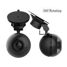 MALUOKASA 360Degree Rotating Car DVR Dash Camera Wireless Remote Control Video Recorder Auto Camcorder Night Vision 64G TF Card