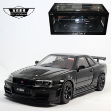 AUTOart 1/18 Scale JAPAN Nissan GTR R34 GT-R Z-TUNE Diecast Metal Car Model Toy New In Box For Collection/Gift/Kids/Decoration