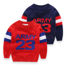 High Quality Designer Knitted Baby Boy Jumper Sweaters Autumn Winter Cotton Boys and Girls Sweater Children Clothing Kids Tops