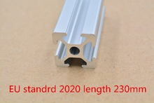 2020 aluminum extrusion profile european standard white length 230mm industrial aluminum profile workbench 1pcs