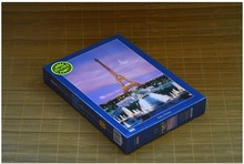 Free Shipping Paris Eiffel Tower 300 Pieces Glow In The Dark Jigsaw Puzzle 26x38cm Home Decoration Art Luminous Paper Puzzle(China)