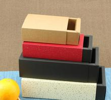25.2*15.2*6.2cm Small Kraft peper packaging cardboard box,black packaging drawerpaper boxes,black paper drawer box