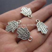 (20 pieces /lot)    Hand shape anti-silver color zink alloy pendant   jewelry findings K1887
